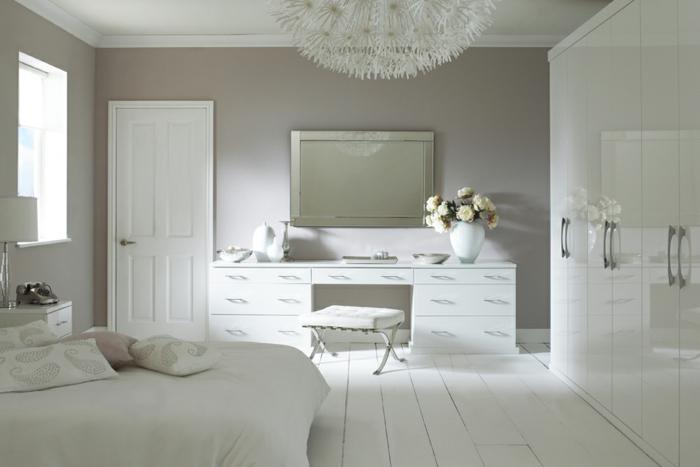 wohnideen schlafzimmer weiße möbel weiblich romantisch