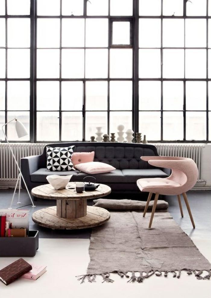 zimmer-einrichten-ideen-wohnzimmer-pastellnuancen-teppichläufer-fenster