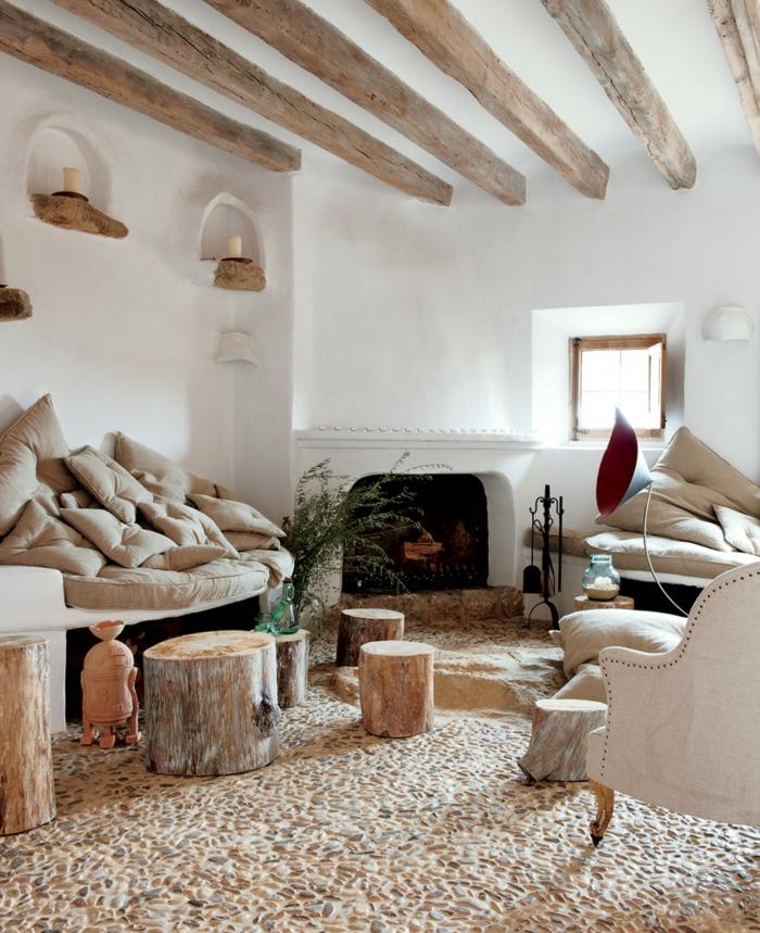 zimmer einrichten ideen wohnzimmergestaltung ideen rustikal gemütlich