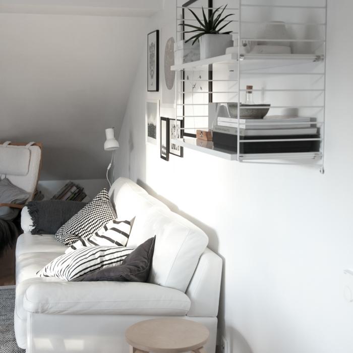 zimmereinrichtung wohnzimmersofa weiß winterliche stimmung