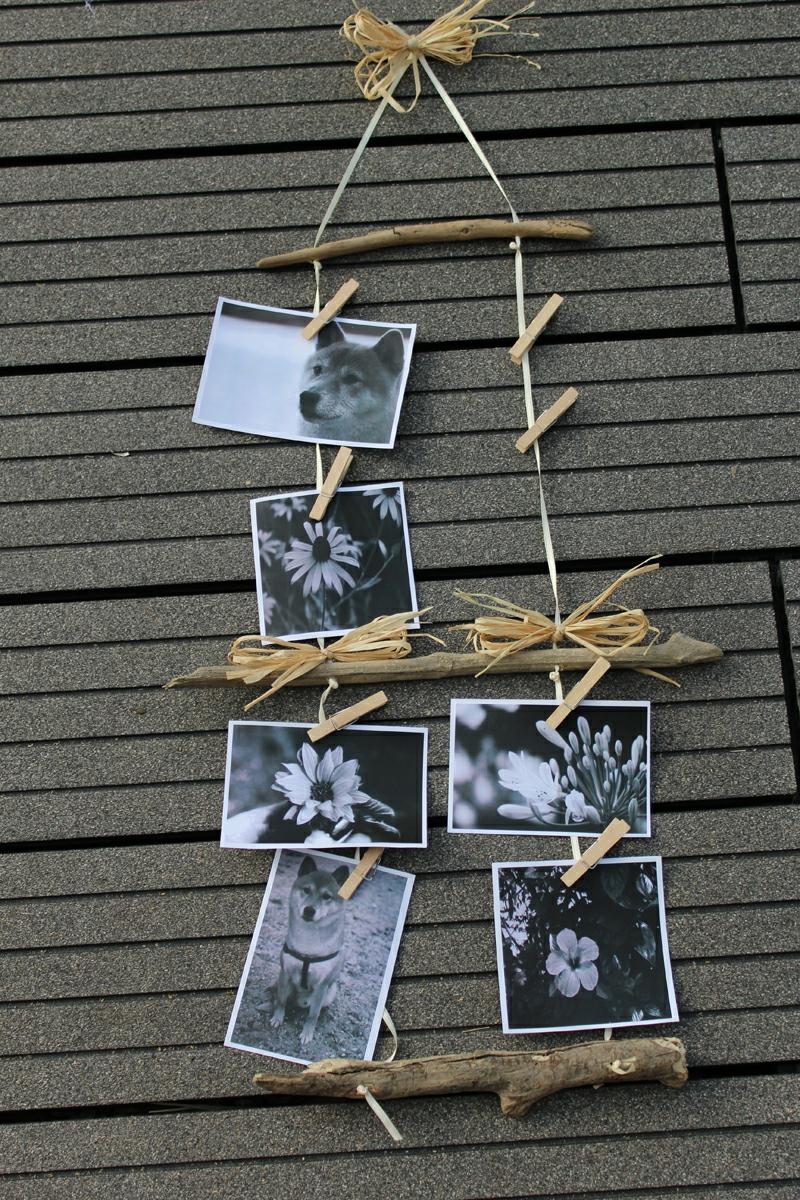 Bilderrahmen basteln Bilderrahmen aus Naturholz selber basteln