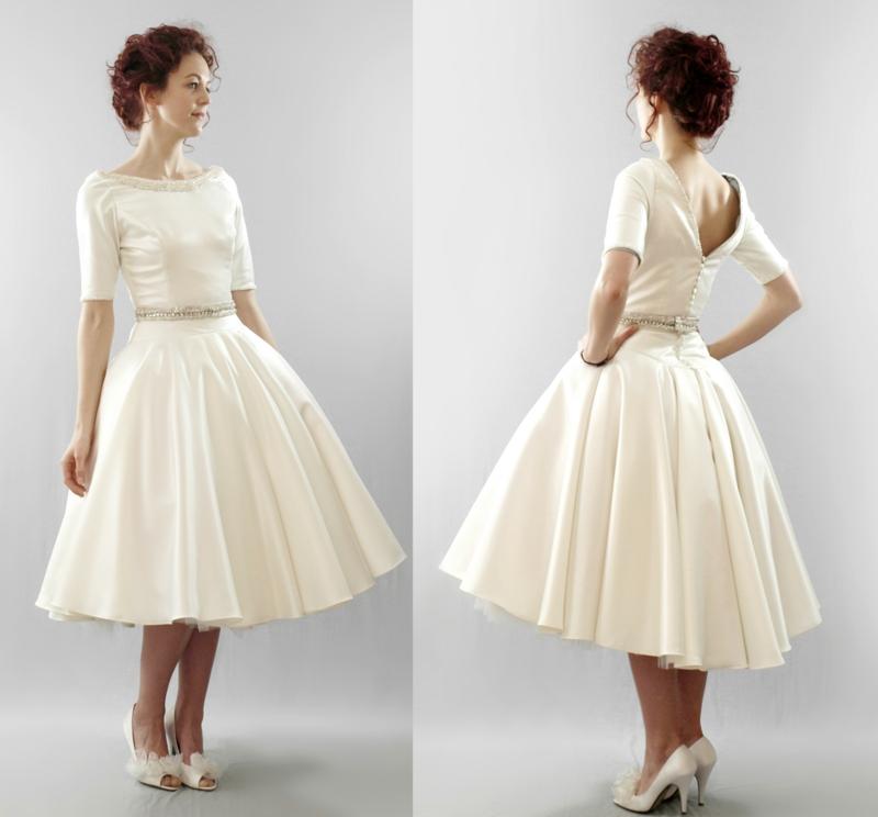 5oer Mode Vintage Kleider 50er Retro Kleid Hockzeitsmode