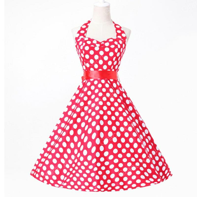 Kleid retro rot