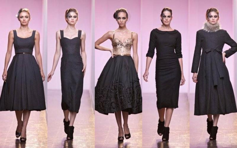 5oer Mode Vintage Kleider 50er Retro Kleider schwarz