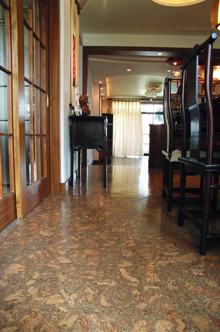 Inneneinrichtung bodenbelag interiordesign kork umweltfreundlich