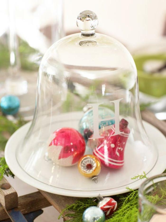 Adventsgesteck selber machen weihnachtliche Tischdeko Christbaimschmuck im Glas
