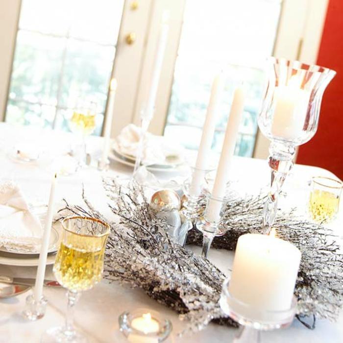 Adventsgestecke Bilder festliche Tischdeko Weihnachten Adventskranz basteln
