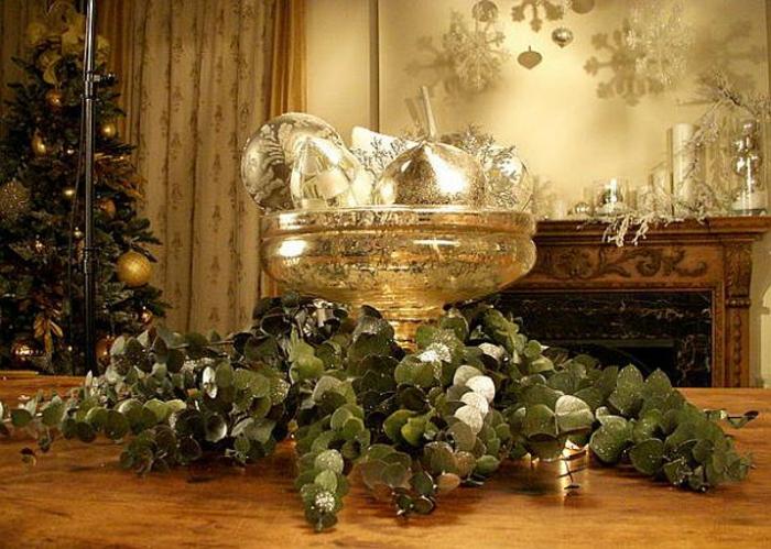 Adventsgestecke basteln festliche Tischdeko selber machen