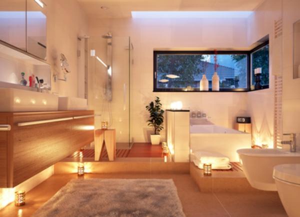 Badgestaltung Ideen Badzubehör Traumbäder wohnliche Atmosphäre