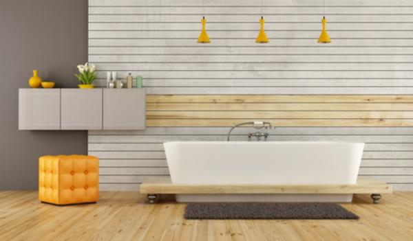 Badgestaltung Ideen Badzubehör modrne Bäder freistehende Badewanne