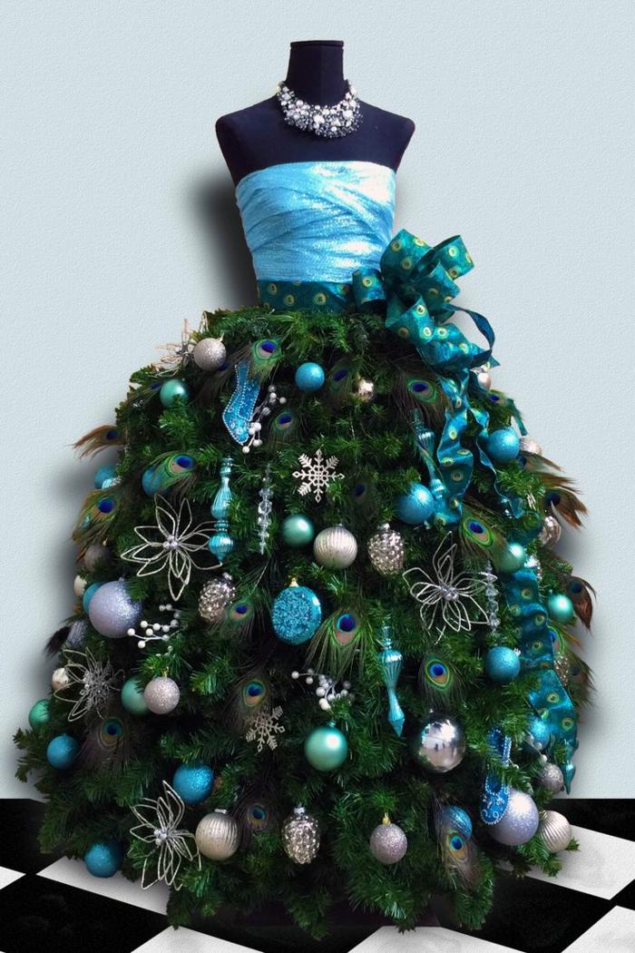 Bastelideen für Weihnachten Weihnachtsbaum basteln Schneiderpuppe