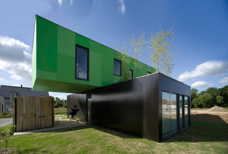 CG Architectes maison Crossbox Container Architektur Containerhäuser