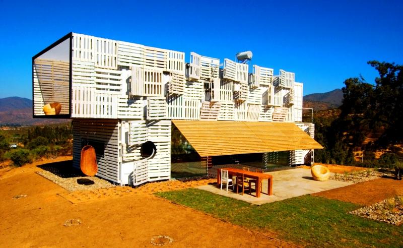 Container Architektur Containerhäuser Haus aus Paletten