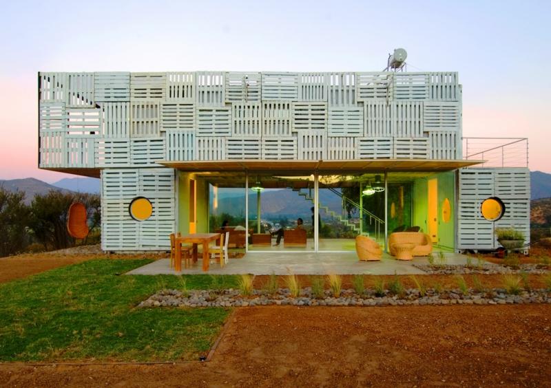 Container Architektur bemerkenswerte Containerhäuser Haus aus Paletten bauen