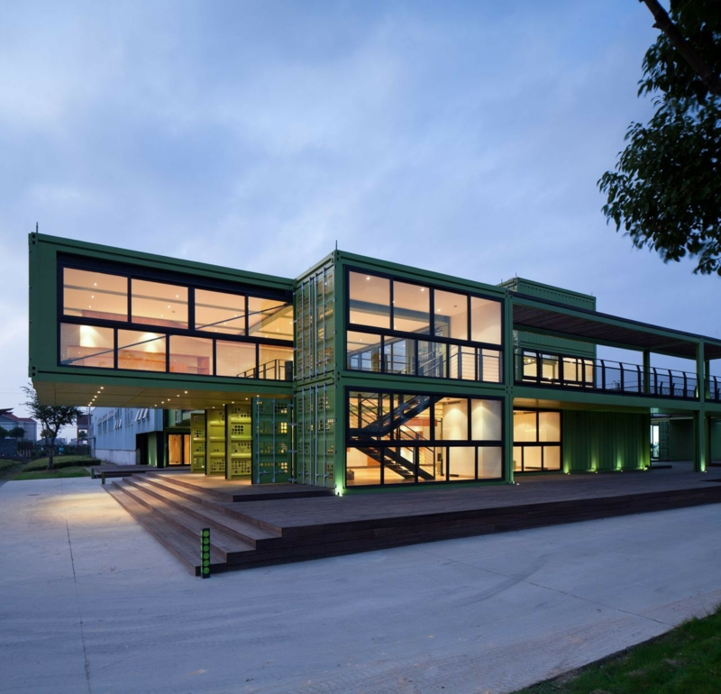 Container Architektur bemerkenswerte Containerhäuser wohnen im Container