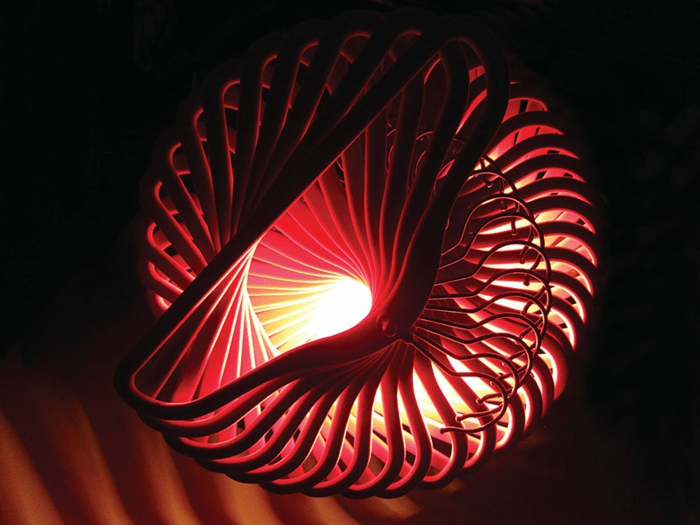 DIY Lampe DIY LAMPEN SELBER machen lampe diy lampenschirme selber machen kleiderbügel rot