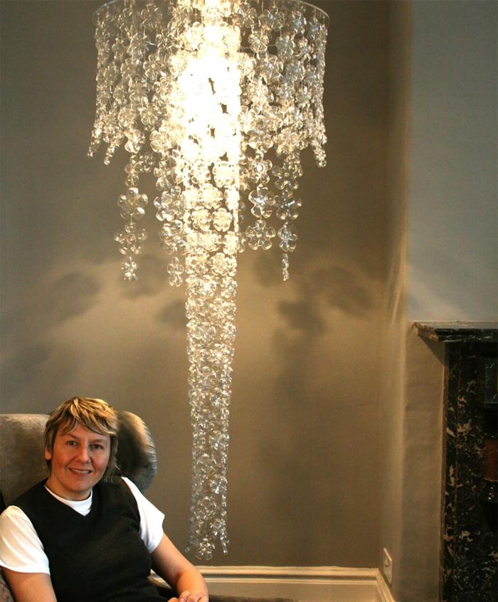 DIY Lampe LAMPEN SELBER machen lampe diy lampenschirme selber machen pet flasche macherin
