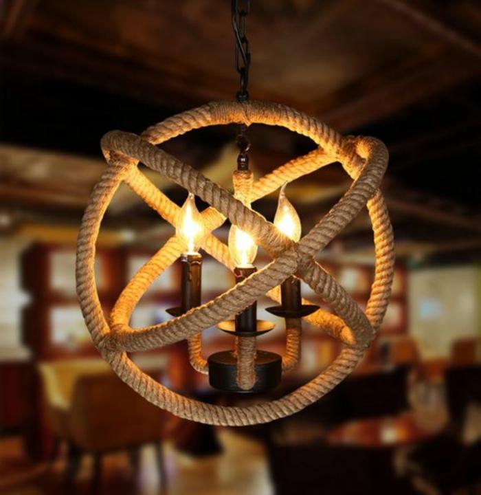 DIY LAMPEN SELBER machen lampe diy lampenschirme selber machen seil globus