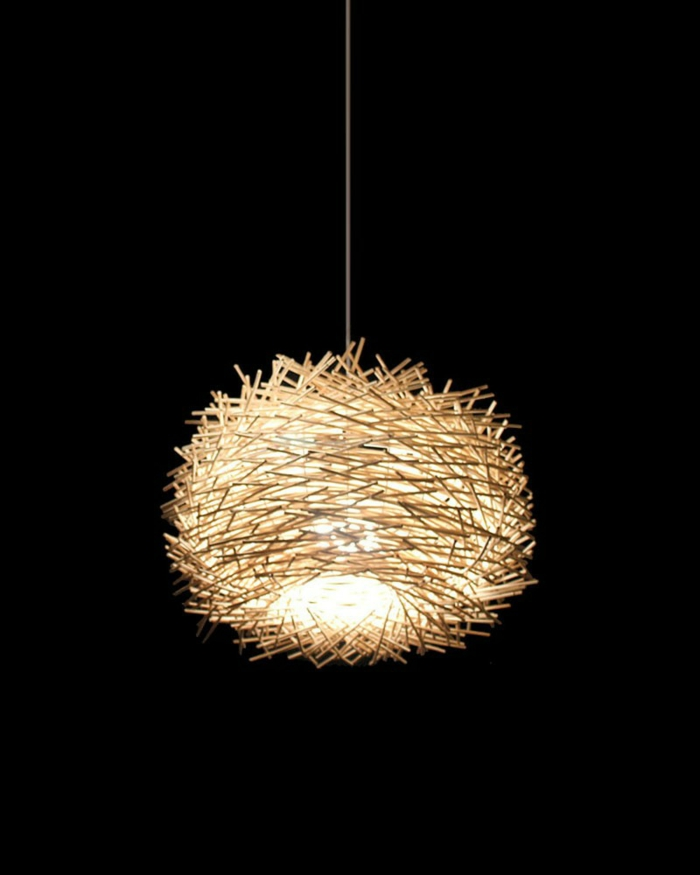 DIY Lampe DIY LAMPEN SELBER machen lampe diy lampenschirme selber machen vogelnest rattan