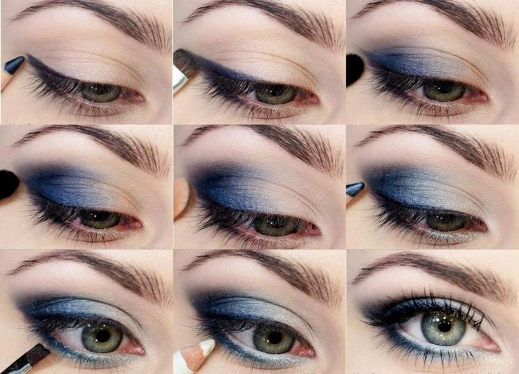 Damenfrisuren Schminktipps Augen richtig schminken