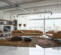 Exotische Stile und tolle Deko Ideen verschönern das moderne Wohnzimmer
