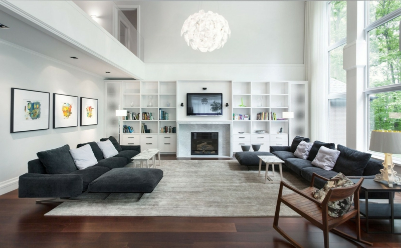 Dekoideen Wohnzimmer einrichten Beispiele Wohnzimmerwand Dekotipps