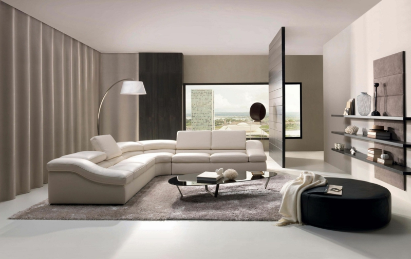 dekoideen wohnzimmer: exotische stile und tolle deko ideen im ... - Moderne Wohnzimmereinrichtung