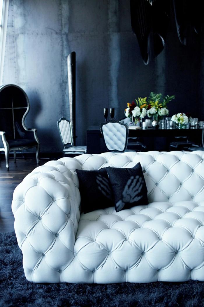 Die Gotik Architektur Merkmale Kunst weisses  Badezimmer Gestaltung Design dunkle einrichtung glamour
