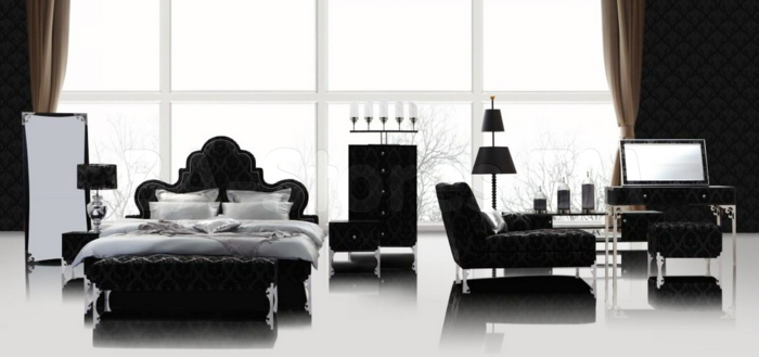 Die Gotik Architektur Merkmale Kunst weisses Badezimmer Gestaltung Design dunkle einrichtung monochrom