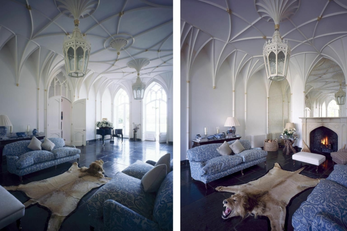 Die Gotik Architektur Merkmale Kunst weisse  Badezimmer Gestaltung Design weiss-split
