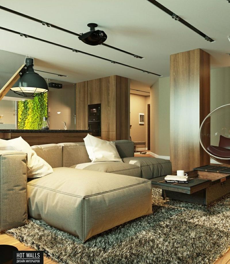 einrichtungsbeispiele vom russischen designstudio hot walls - Wohnzimmer Design Mobel