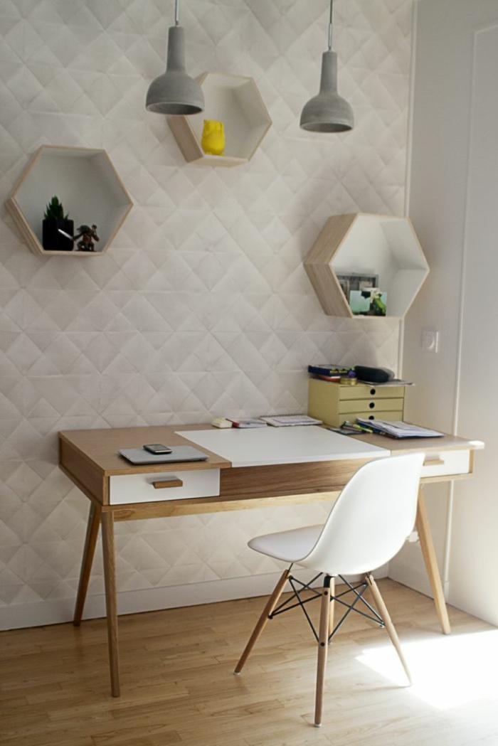 Home Office Arbeitszimmer Möbel skandinavisch einrichten Schreibtisch