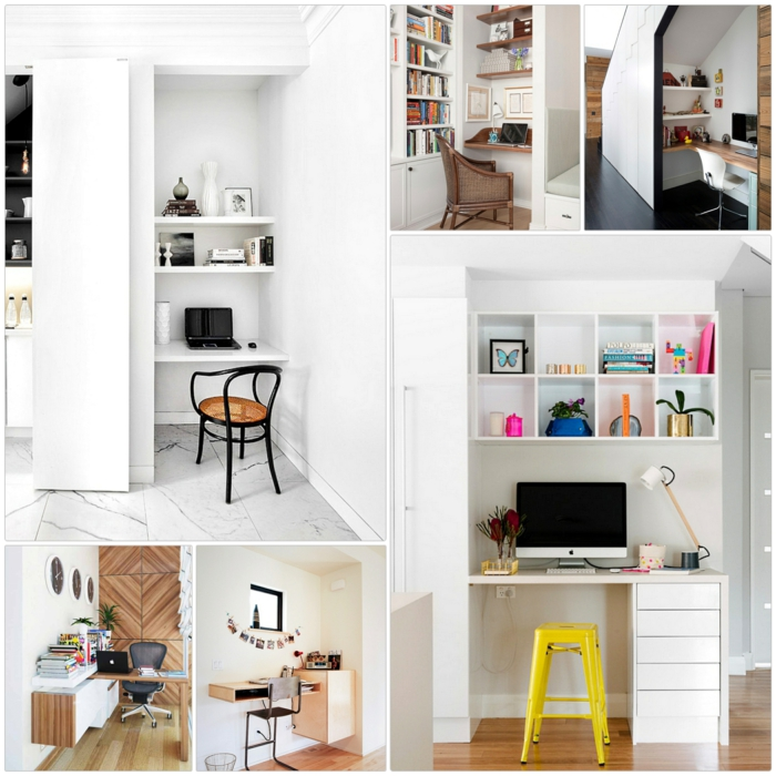 Home Office einrichten Einrichtungsideen kleines Büro einrichten