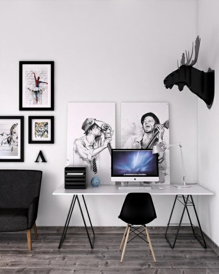 Home Office einrichten Möbel Arbeitsplatz skandinavisch einrichten und dekorieren