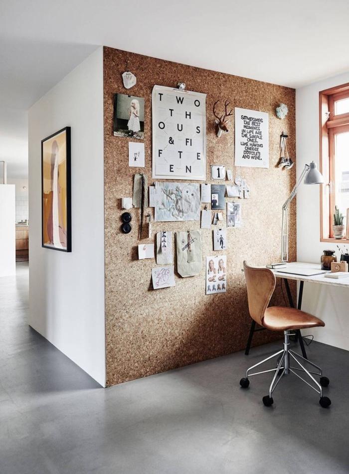 Home Office einrichten Möbel Bürostühle Korkwand