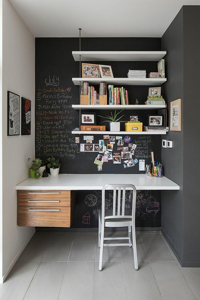 Home Office einrichten Möbel offene Wandregale