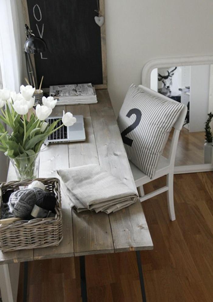 Home Office Möbel Rustikal Einrichten Holz Schreibtisch