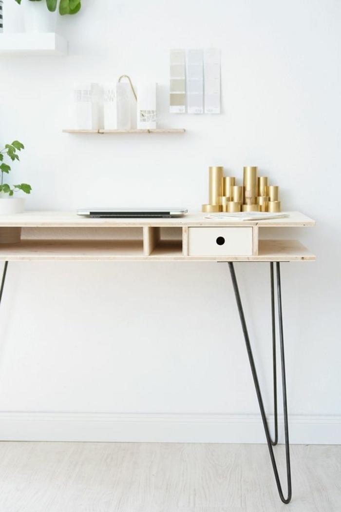 Home Office einrichten Möbel skandinavisch einrichten Schreibtisch elegant