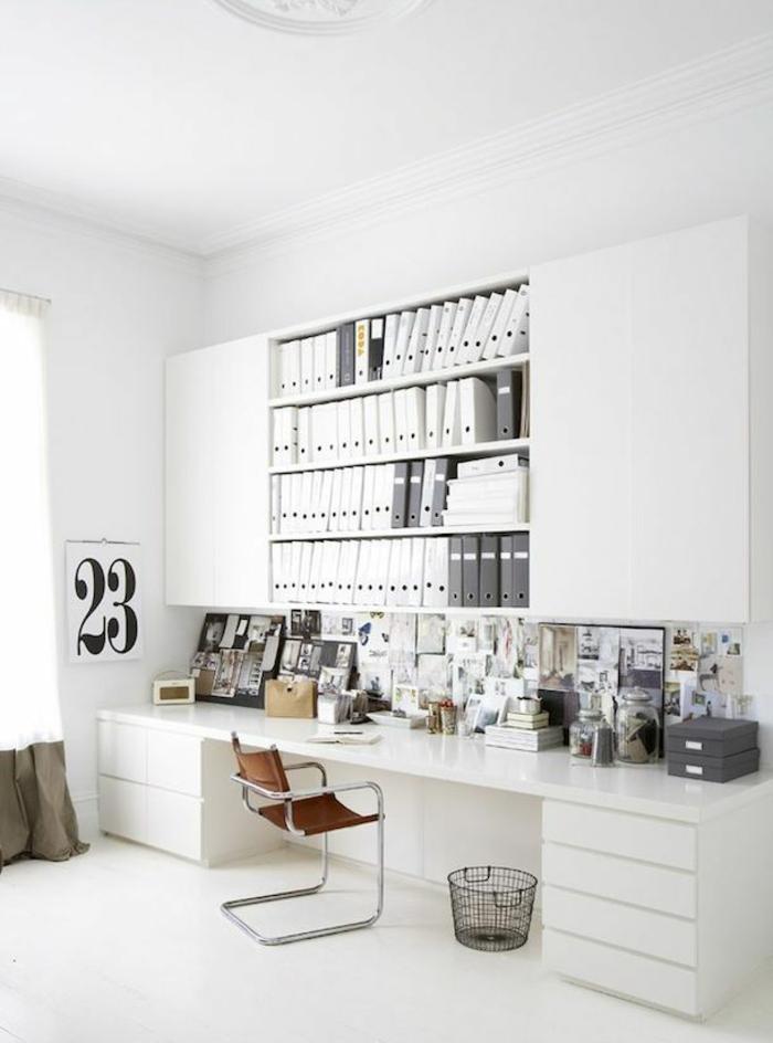 Home Office einrichten Möbel skandinavisch Schreibtisch komplett weiß