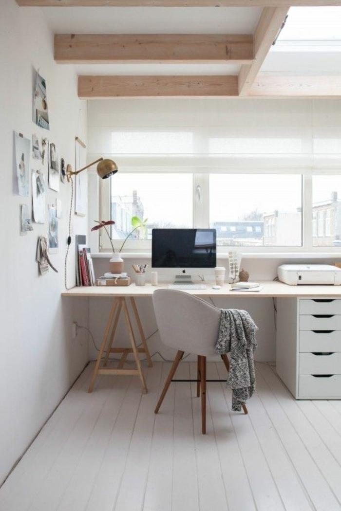 Home Office einrichten Möbel skandinavisch einrichten Schreibtisch