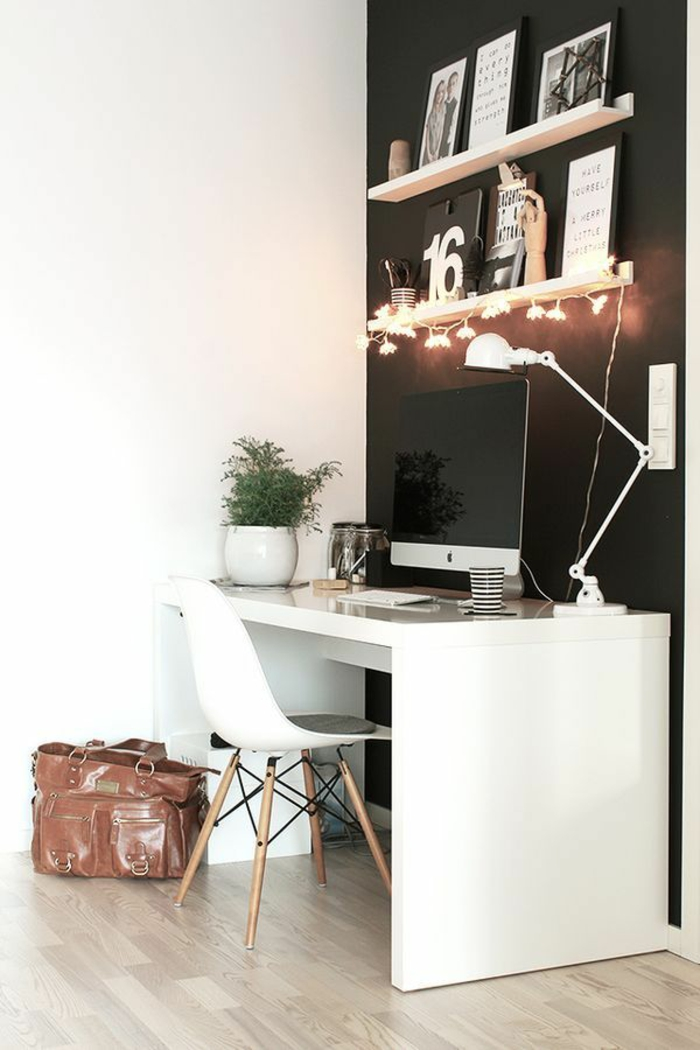 home office einrichten und dekorieren 40 anregende einrichtungsbeispiele. Black Bedroom Furniture Sets. Home Design Ideas