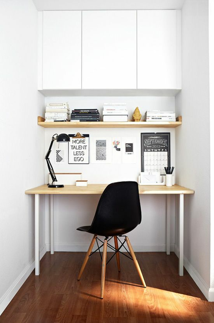 Home Office in der Nische einrichten Möbel Eames Chair