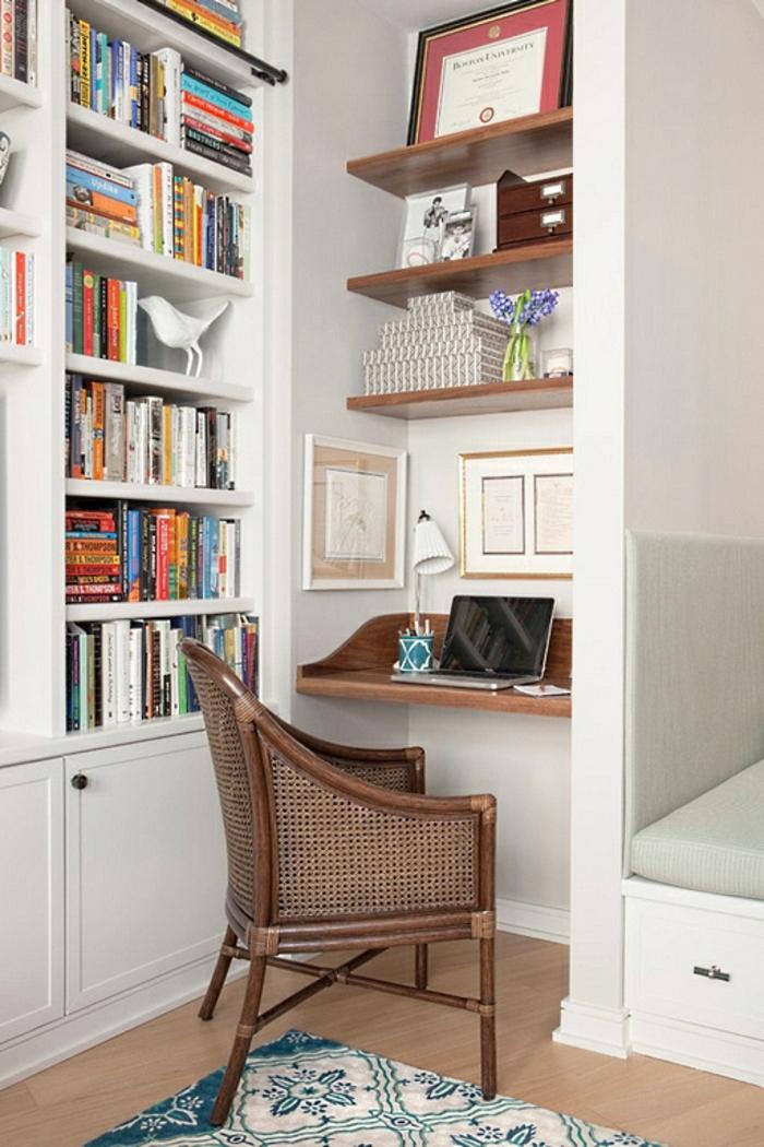 Homeoffice Möbel Nische Hausbibliothek kleines Büro