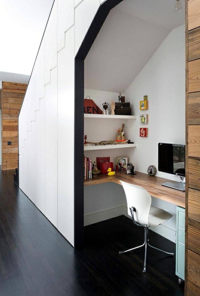 Homeoffice kleines Büro einrichten Nische Arbeitsplatz