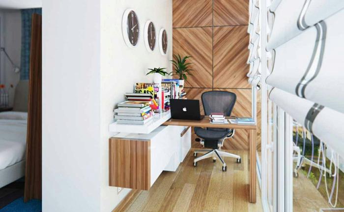 Homeoffice kleines Büro einrichten kreative Terrassengestaltung