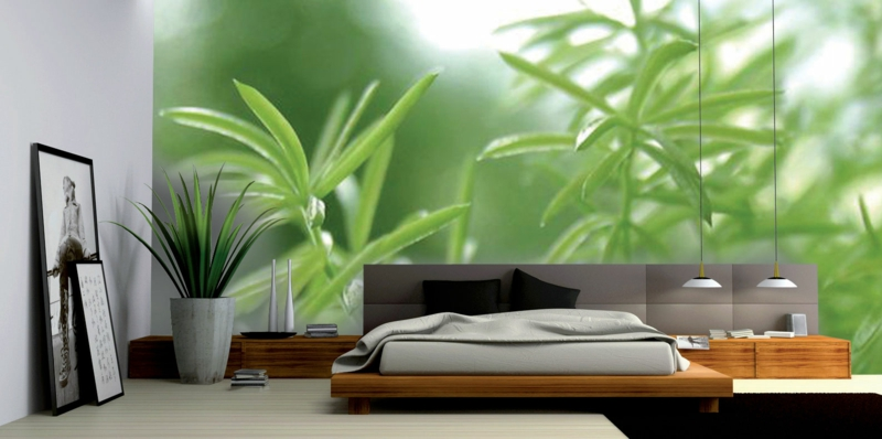 Ideen für kreative Wandgestaltung Schlafzimmer Fototapete