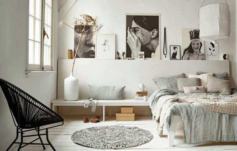 Ideen für moderne Wandgestaltung Schlafzimmer