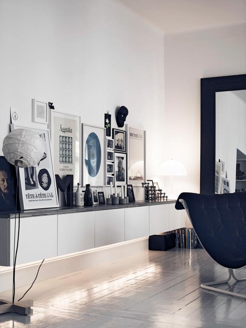 Ideen für moderne Wandgestaltung Wohnzimmer Bilder