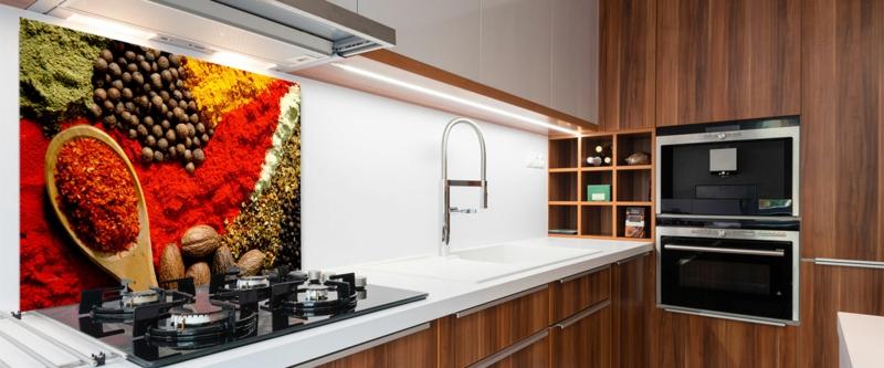 Küchenrückwand Glas Ideen moderne Küchengestaltung