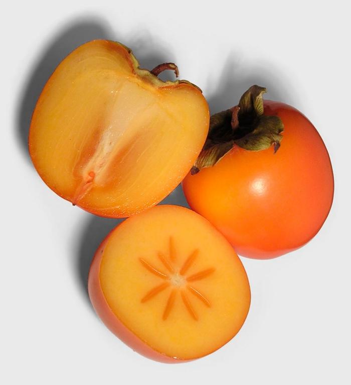 kaki essen sharonfrucht stückchen khaki vitamine rezepte frucht